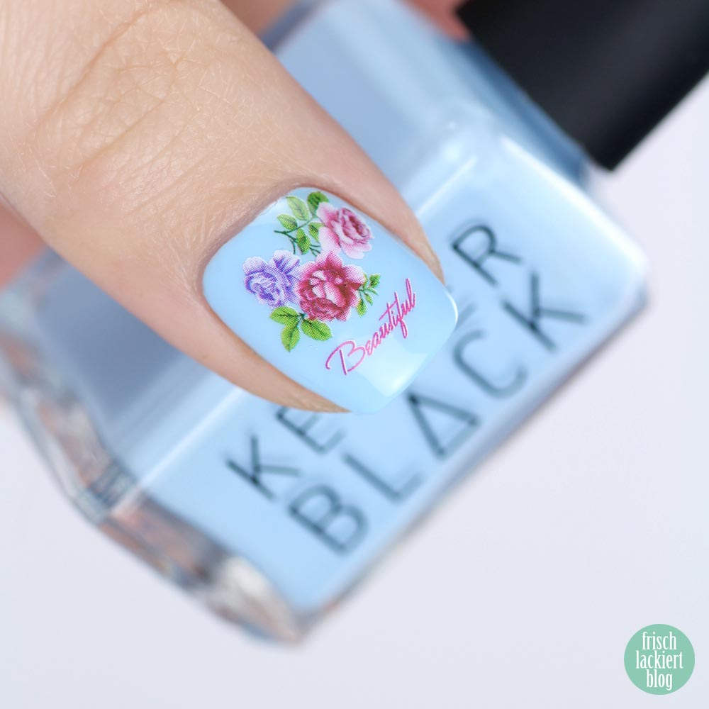 Kester Black Cumulus – Rose Nailart – swatch by frischlackiert