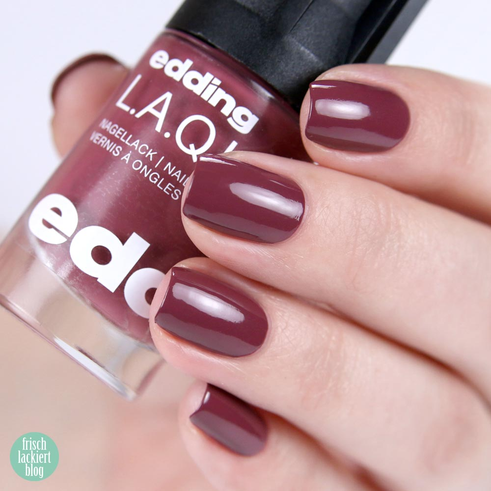 edding LAQUE – great grape - nailpolish violett - shade refresh – by frischlackiert