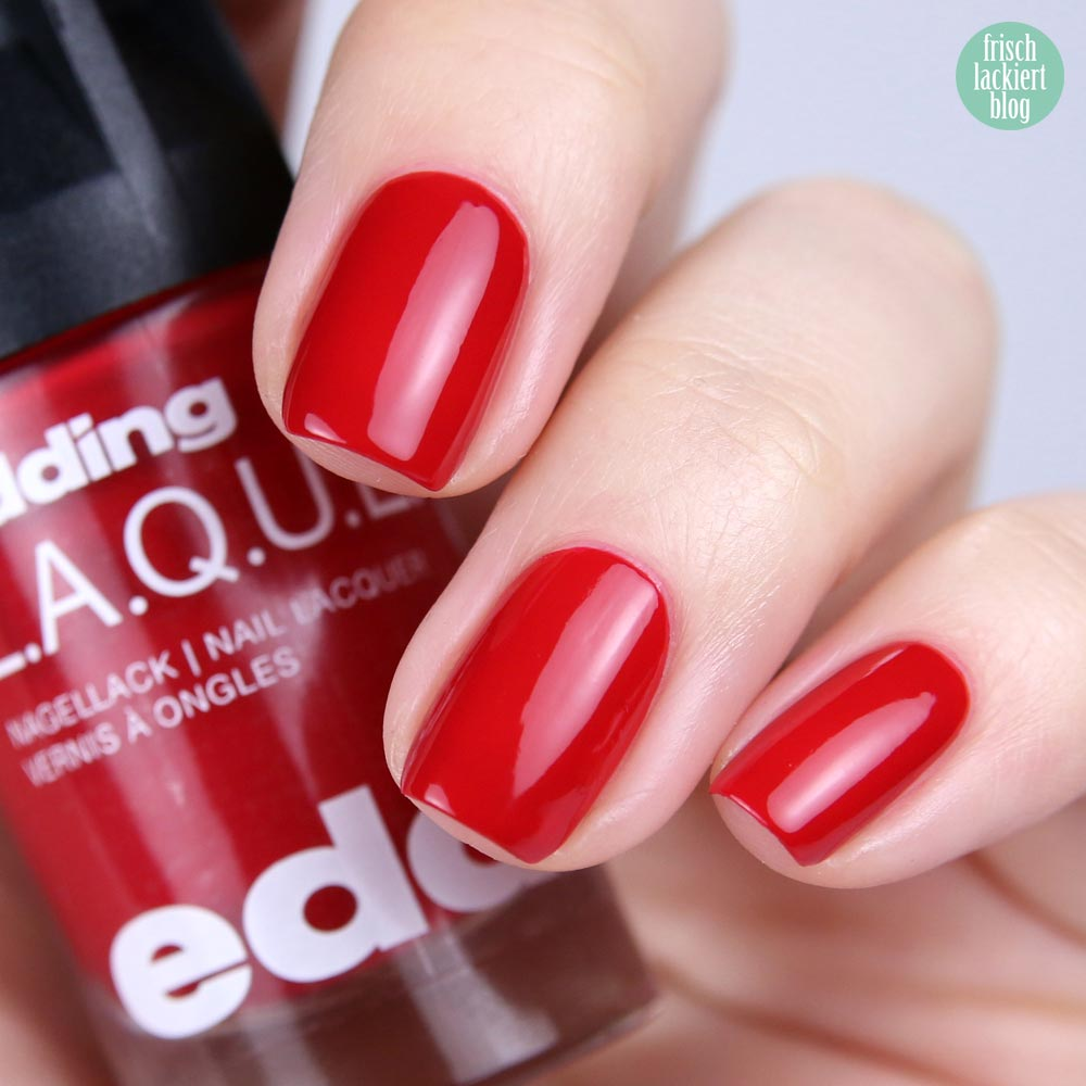 edding LAQUE – pomegranate pop - nailpolish red - shade refresh – by frischlackiert