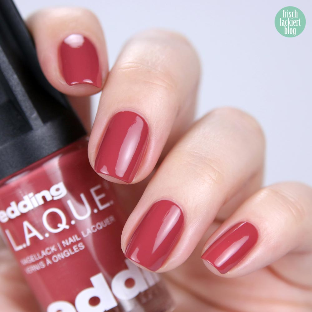 edding LAQUE – rosy rosewood - nailpolish rosenholz - shade refresh – by frischlackiert