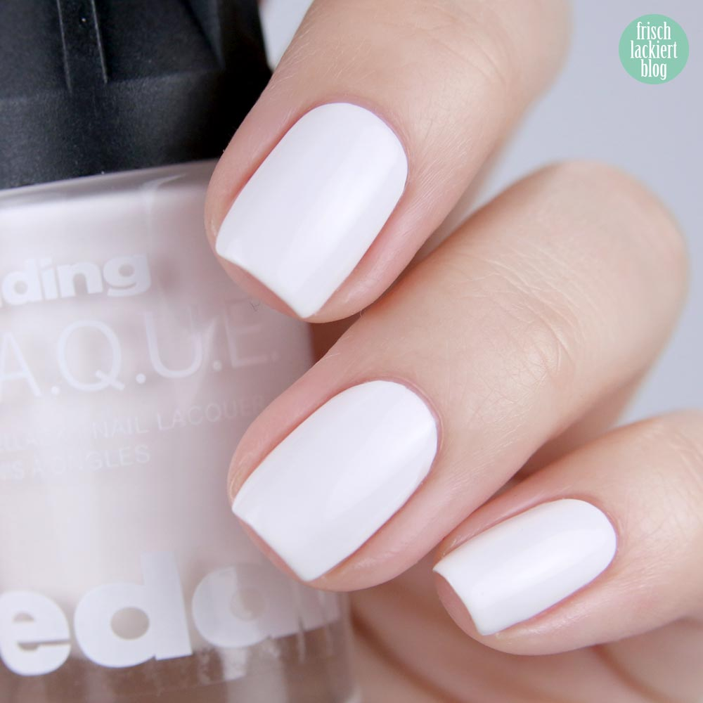 edding LAQUE – white wedding- nailpolish white - shade refresh – by frischlackiert