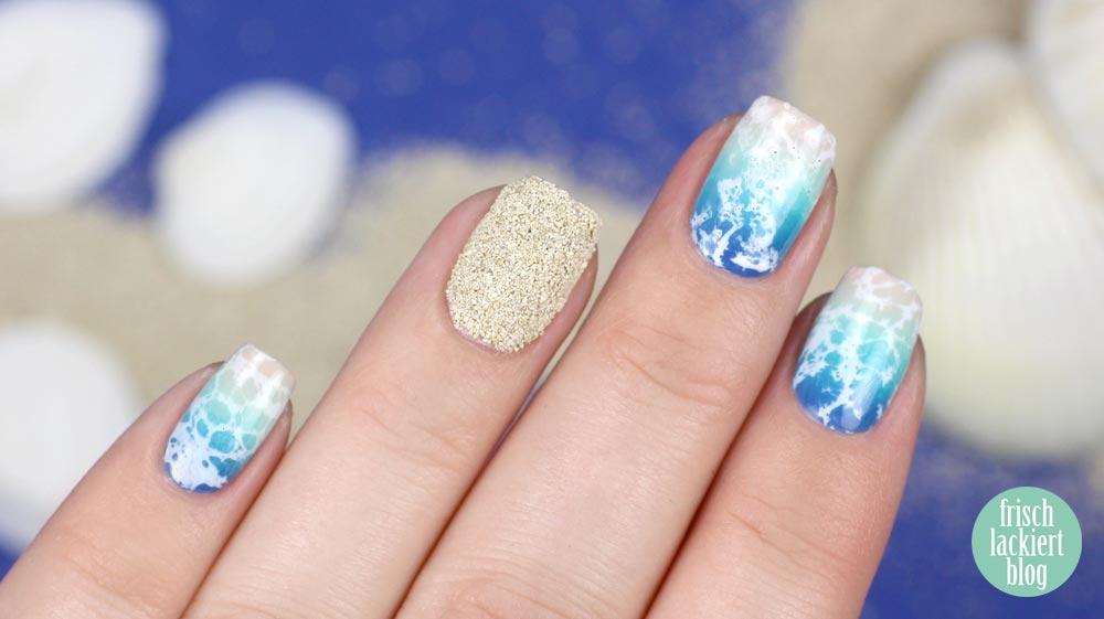 Frischlackiert-Challenge – Strand und Meer – beach nails - nailart and tutorial by frischlackiert