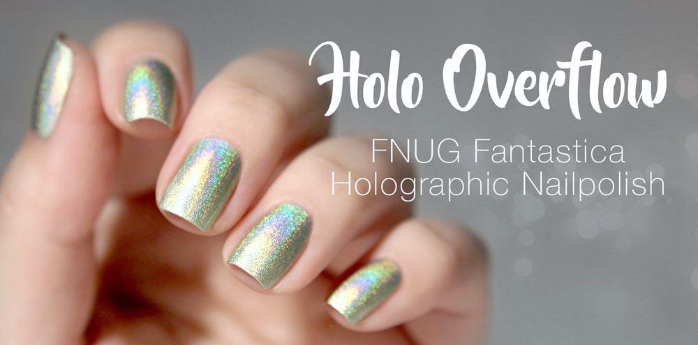 FNUG Fantastica _ Holographic Nailpolish Light Green – swatch by frischlackiert