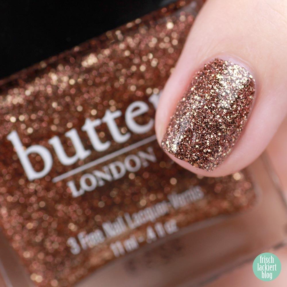 Frischlackiert-Challenge – Roségold Nailart mit Dreieick Stamping –Butter London Bit Faker – by frischlackiert