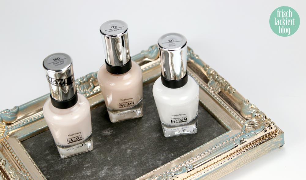 Sally Hansen – Color of the Moment – Sheer – Shall we dance - Arm Candy – Let´s Snow! – by frischlackiert