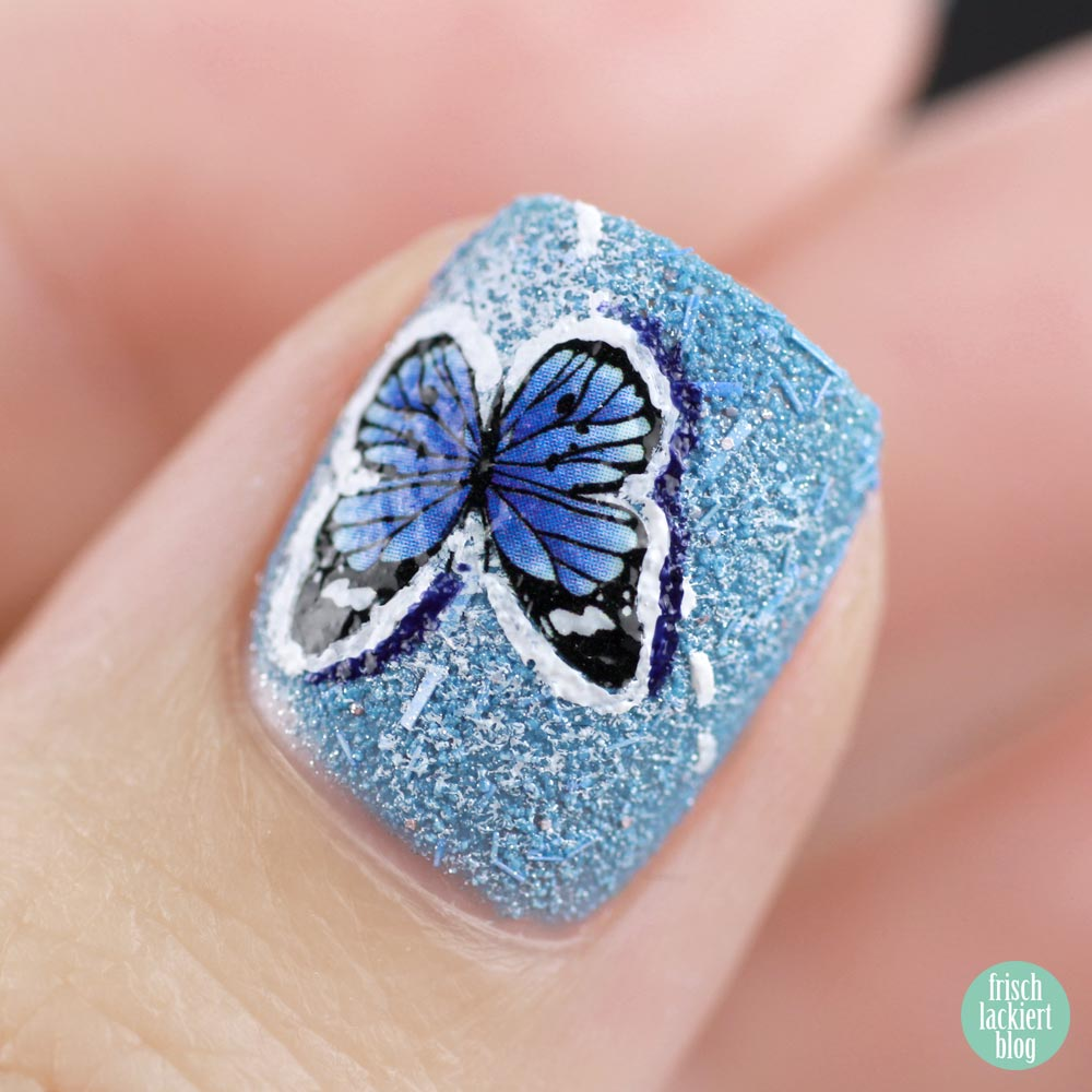 Frischlackiert-Challenge – Jeans Look Nailart with Stamping and Patches – Tutorial - by frischlackiert