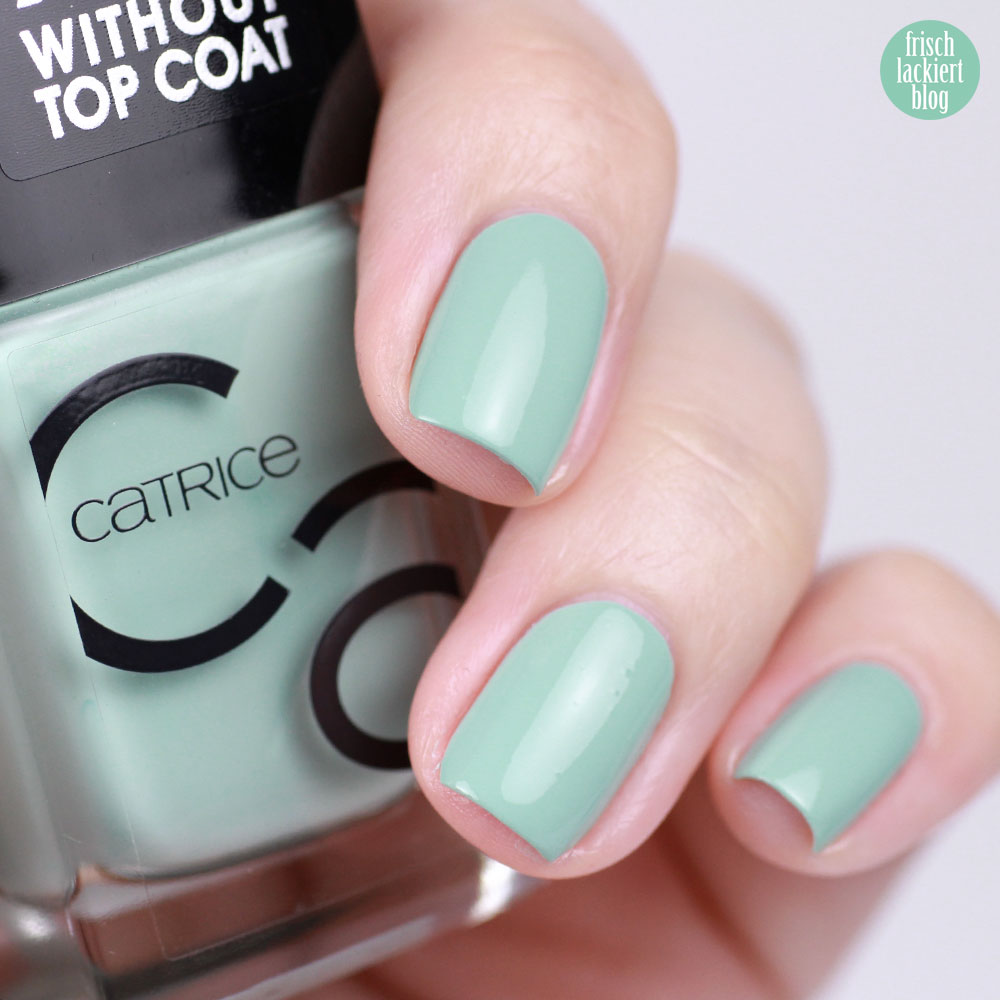Catrice ICONails Mint Map – mint nailpolish - swatch by frischlackiert