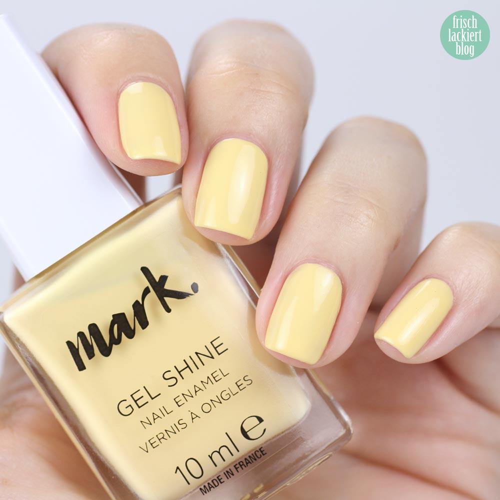 AVON Mark – Daysie – hellgelber pastell Nagellack – swatch by frischlackiert