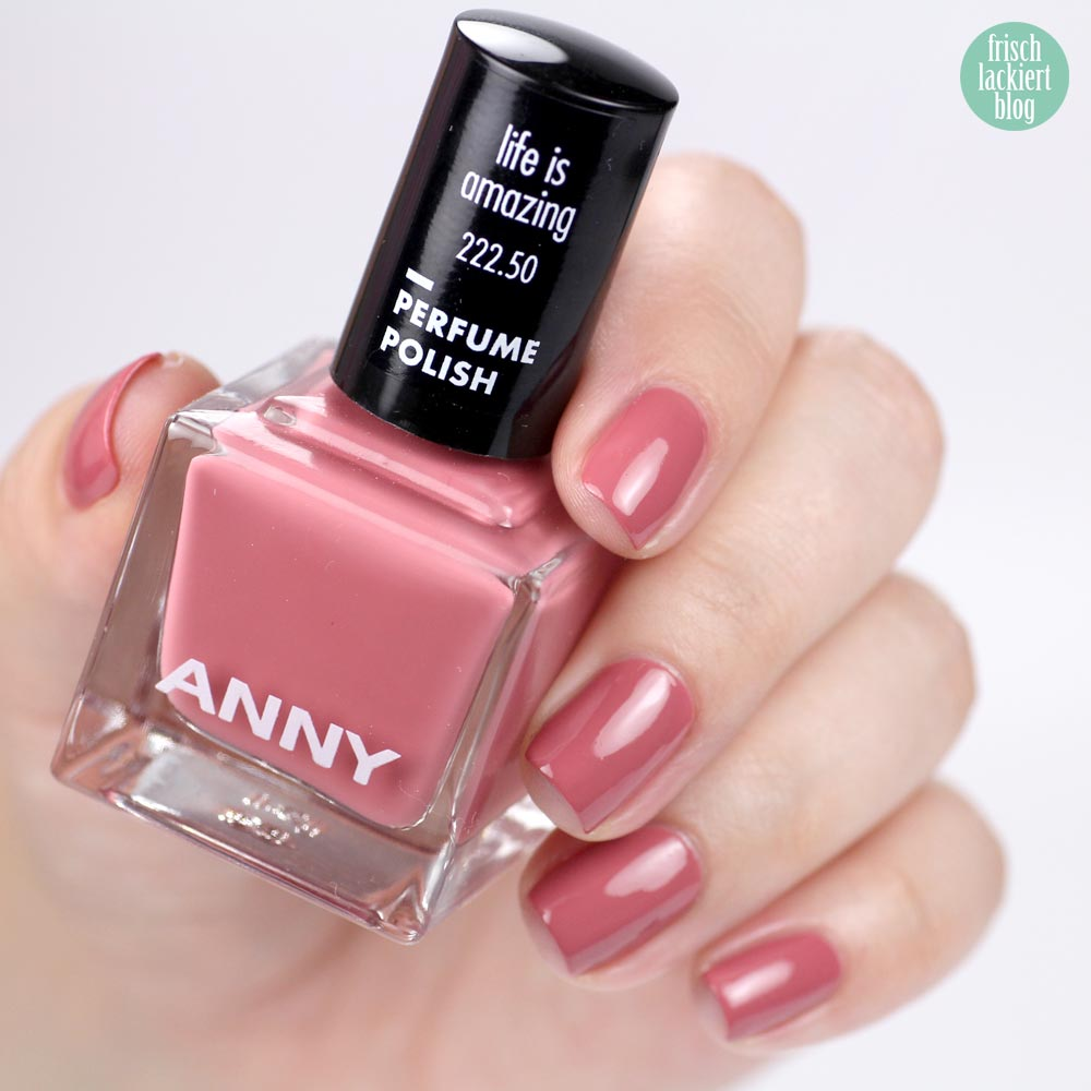 ANNY Perfume Polish – Nagellack mit Duft – life is amazing – swatch by frischlackiert