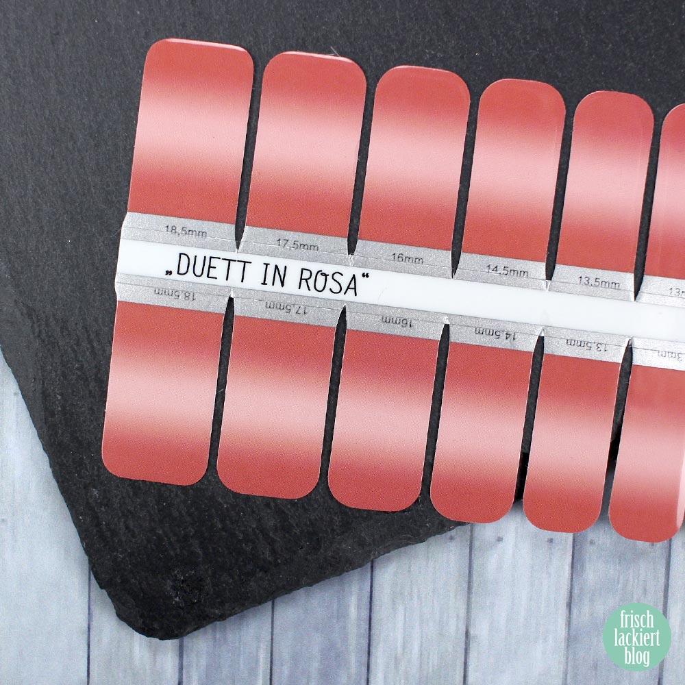 Sticker Gigant Nagelsticker - Duett in Rosa – by frischlackiert