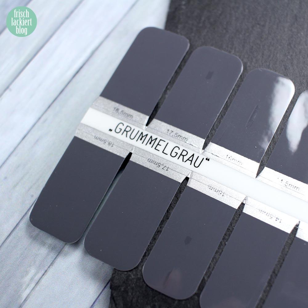 Sticker Gigant Nagelsticker - Grummelgrau – by frischlackiert