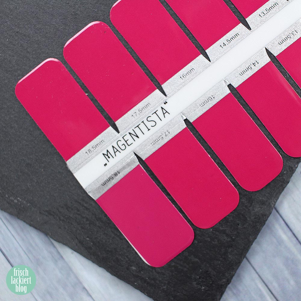 Sticker Gigant Nagelsticker - Magentista – by frischlackiert