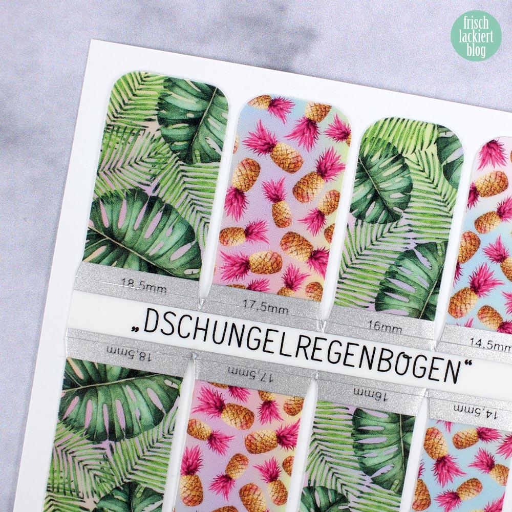 Sticker Gigant Nagelsticker - Sommerkollektion 2017 - Dschungelregenbogen – by frischlackiert