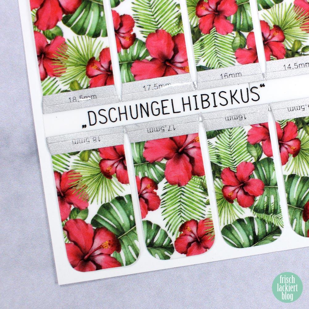Sticker Gigant Nagelsticker - Sommerkollektion 2017 - Dschungelhibiskus – by frischlackiert