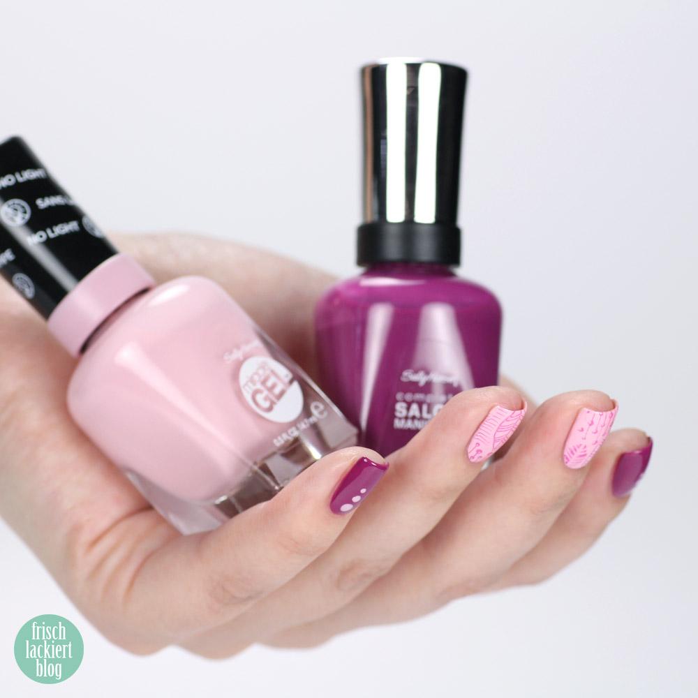 Sally Hansen Nagellack colorofthemoment – purple - rosa - lila - Pinky Promise und Scarlet Fever – by frischlackiert