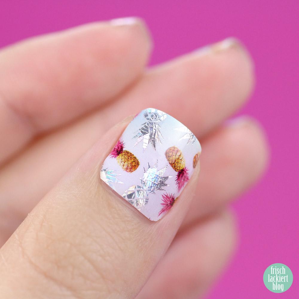 Sticker Gigant Nagelsticker – Holonanas – holografische Nailwraps – by frischlackiert