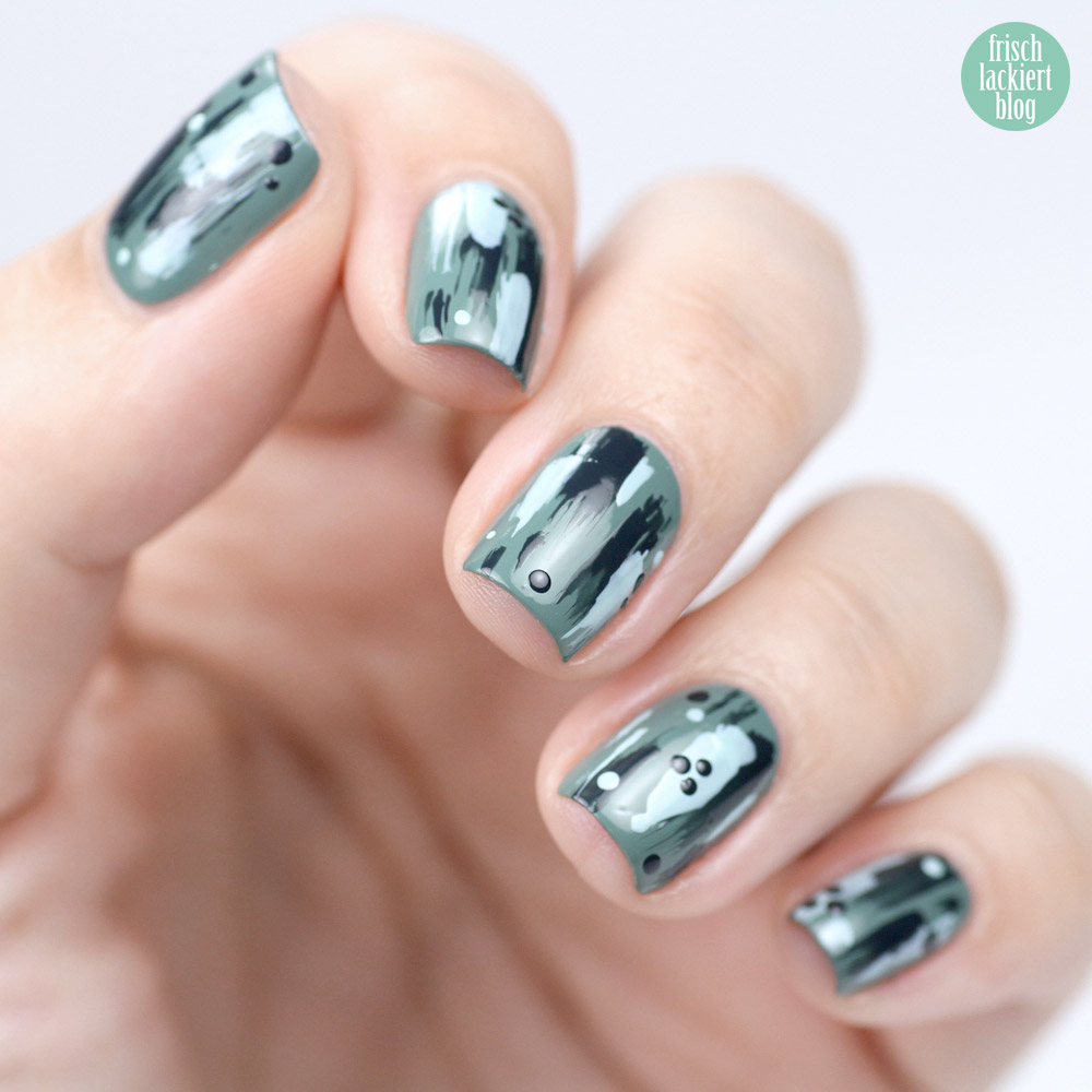 Essie Grün und Gold Nailart Tutorial – einfaches Nageldesign zum Nachmachen – by frischlackiert