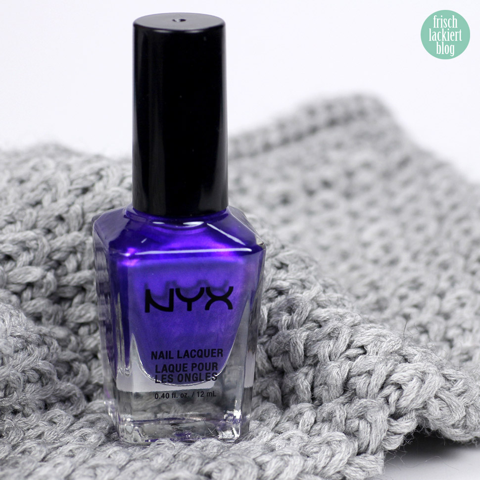 NYX Royal Empire – purple Nailpolish – Nagellack Violett mit Schimmer – swatch by frischlackiert