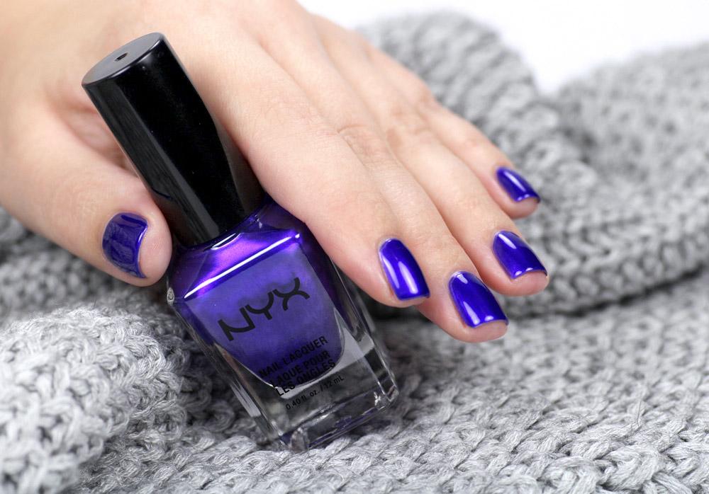 NYX Royal Empire – purple Nailpolish – Nagellack Violett mit Schimmer – swatch by frischlackiert