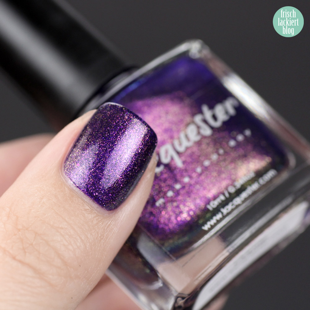 Lacquester Oopsie – color4nails – Lila Flakie Glitzer Nagellack – stwach by frischlackiert
