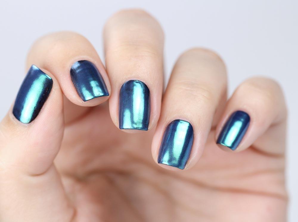 Essence metal shock nail powder – 06 be my little mermaid – test und review – swatch by frischlackiert