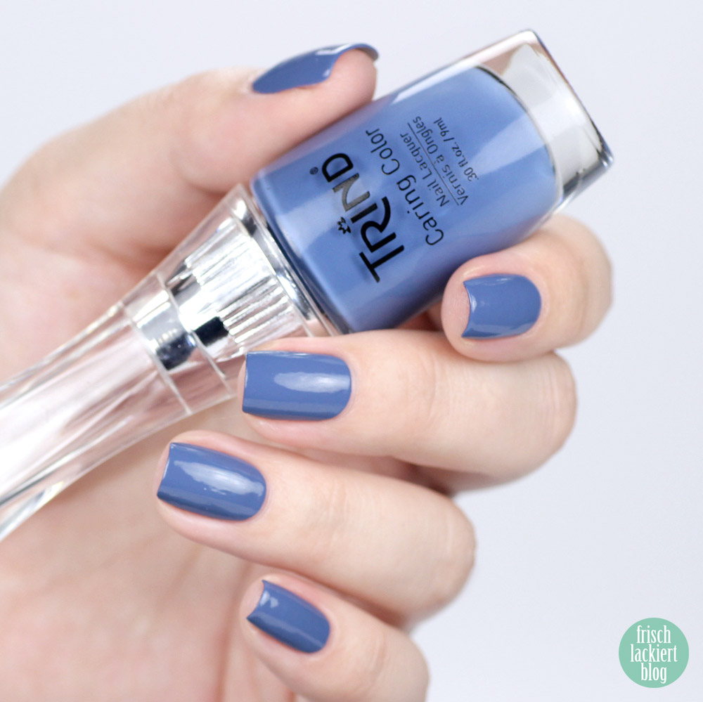Caring Colors von Trind – Winter in New Delhi Kollektion – Hindu Blue – swatch by frischlackiert