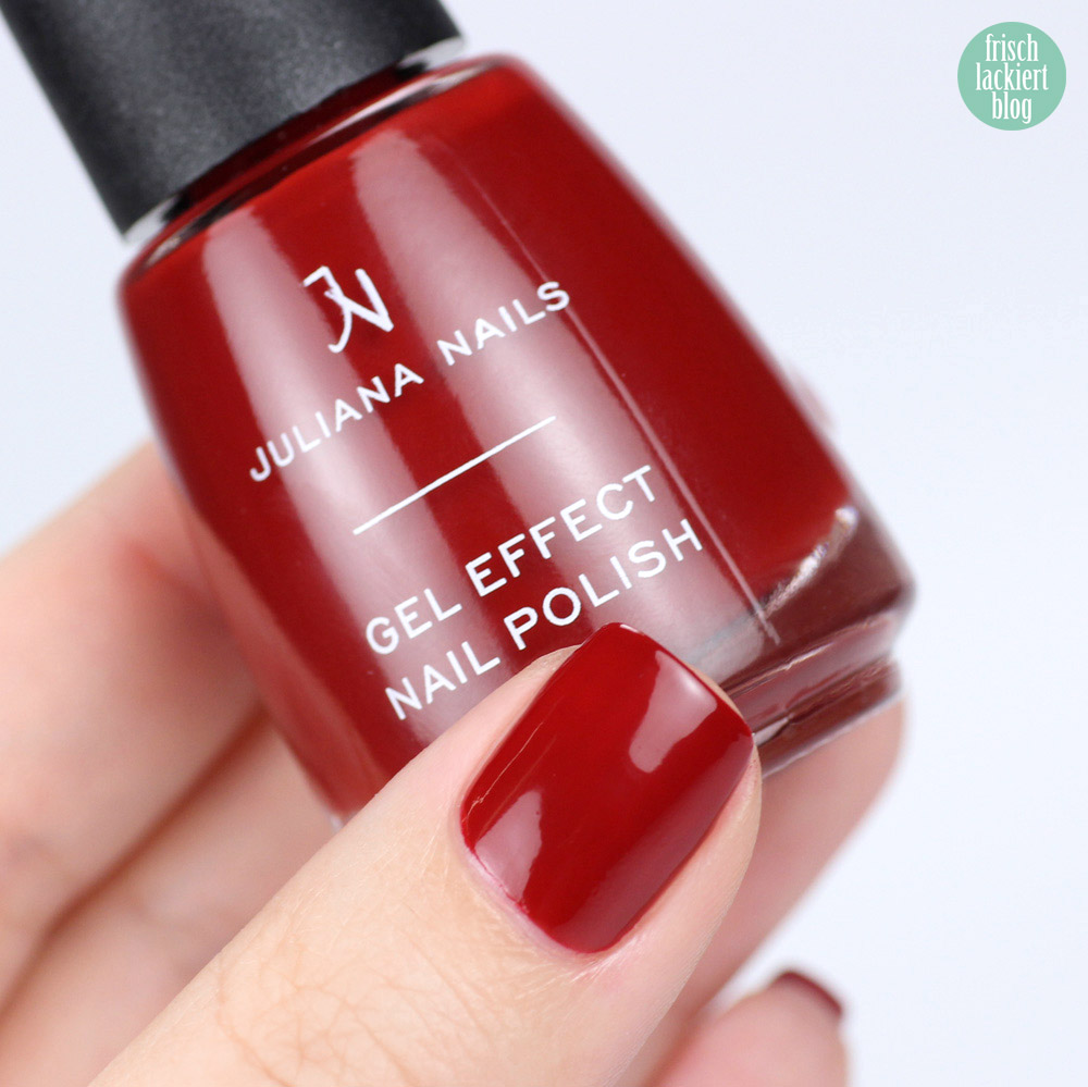 Juliana Nails –  Gipsy Red – Roter Nagellack - swatch by frischlackiert