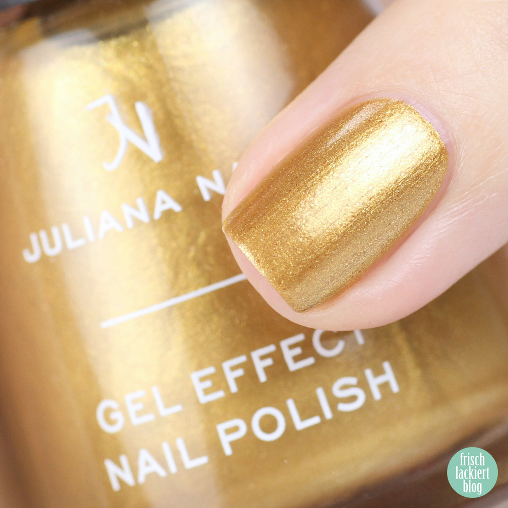 Juliana Nails – Put up your crown – goldener Nagellack – swatch by frischlackiert