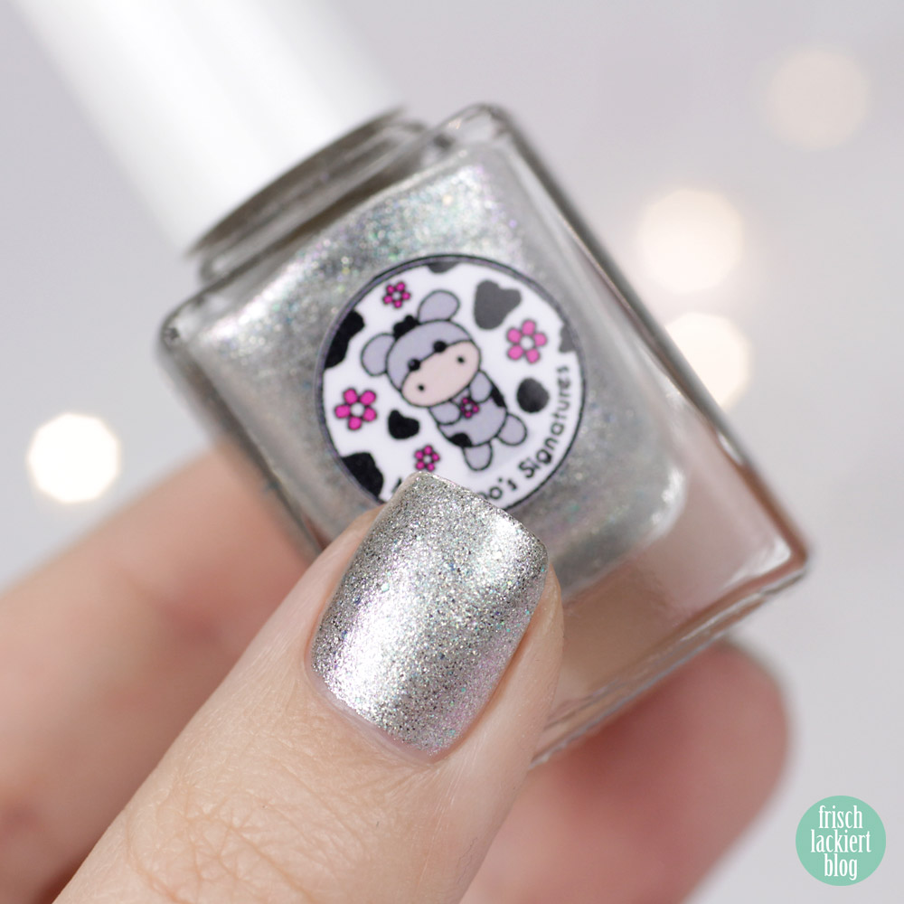 Moo Moo´s Signatures – Ice Storm – Nagellack in Silber – swatch by frischlackiert