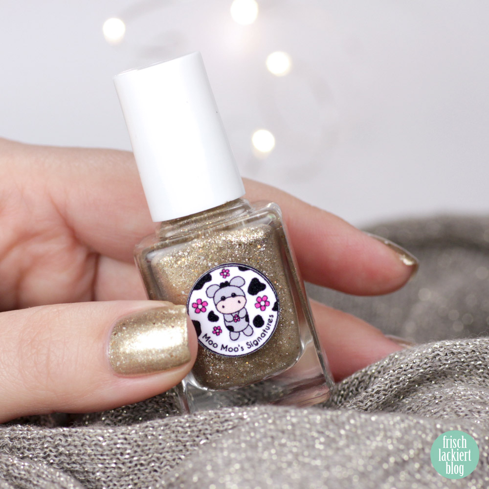 Moo Moo´s Signatures – Sand Storm – Nagellack in Gold – swatch by frischlackiert