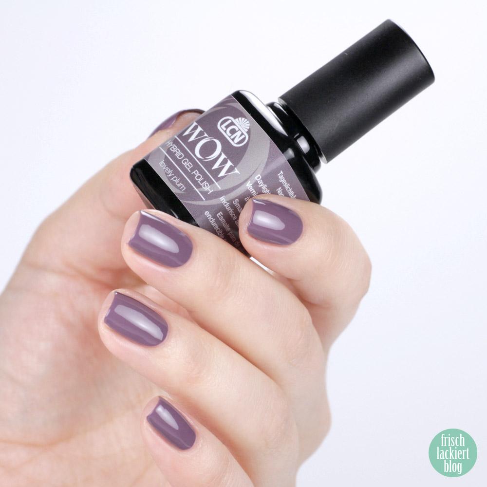 LCN WOW Hybrid Gel Polish – Nagellack Violett / Flieder – lovely plum – swatch by frischlackiert