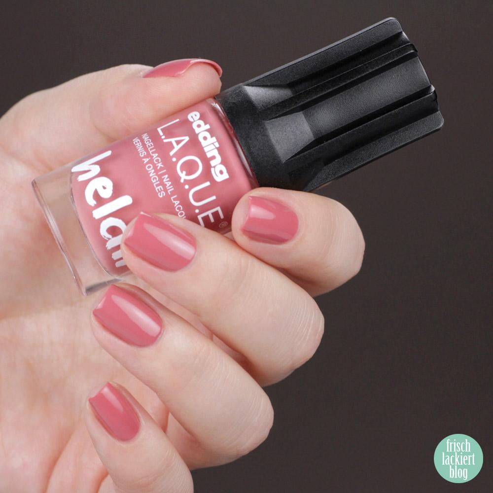 Edding L.A.Q.U.E. – Powerfrauen Kollektion 2018 - Dare dusty rose - nailpolish - swatch by frischlackiert