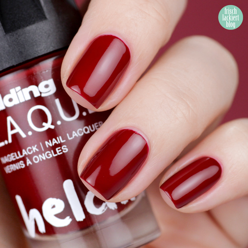 Edding L.A.Q.U.E. – Powerfrauen Kollektion 2018 -daily dark red - red nailpolish - swatch by frischlackiert