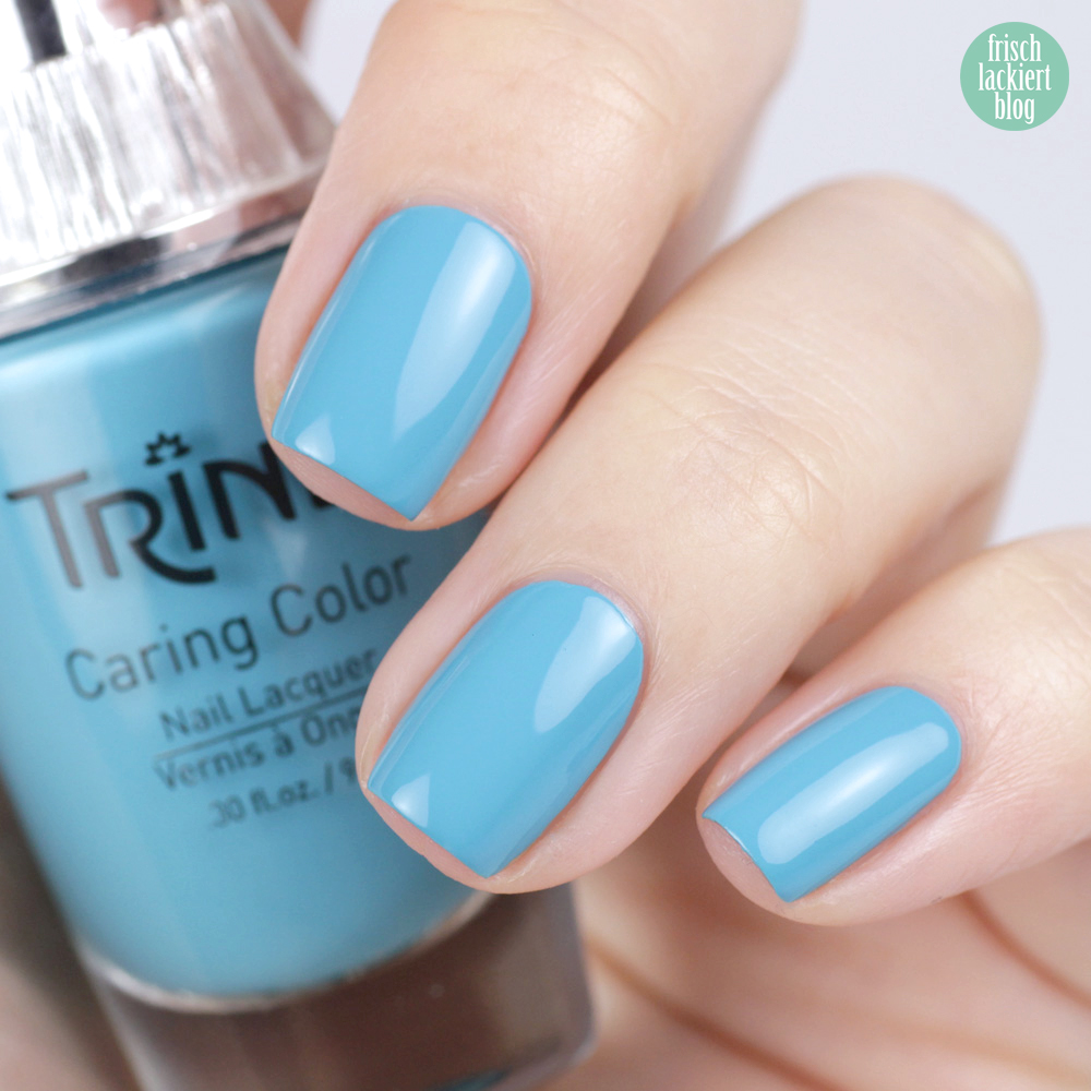 Trind Cosmetics – Welcome to Miami Kollektion / Frühling Sommer 2018 – Nagellack – South Beach – Hellblau – swatch by frischlackiert