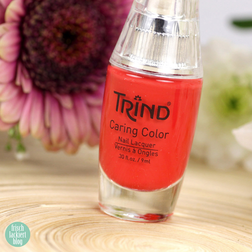 Trind Cosmetics – Welcome to Miami Kollektion / Frühling Sommer 2018 – Nagellack – Coral Crazy – Koralle – swatch by frischlackiert