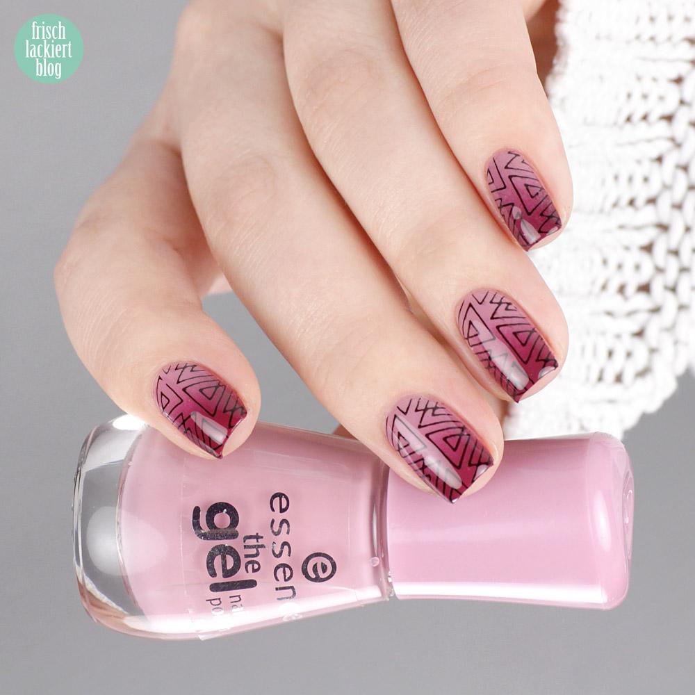 Essence Stamp it – clear stamper aus der Drogerie – Gradient Basis mit geomatrischem Stamping – by frischlackiert