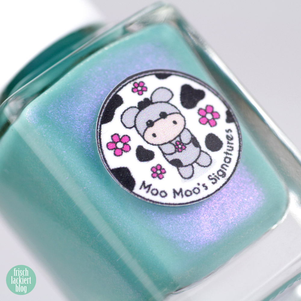 Chrysanthemoom – Moo Moo´s Signature - exclusive by color4nails – 10 days only - turquoise nailpolish – swatch by frischlackiert