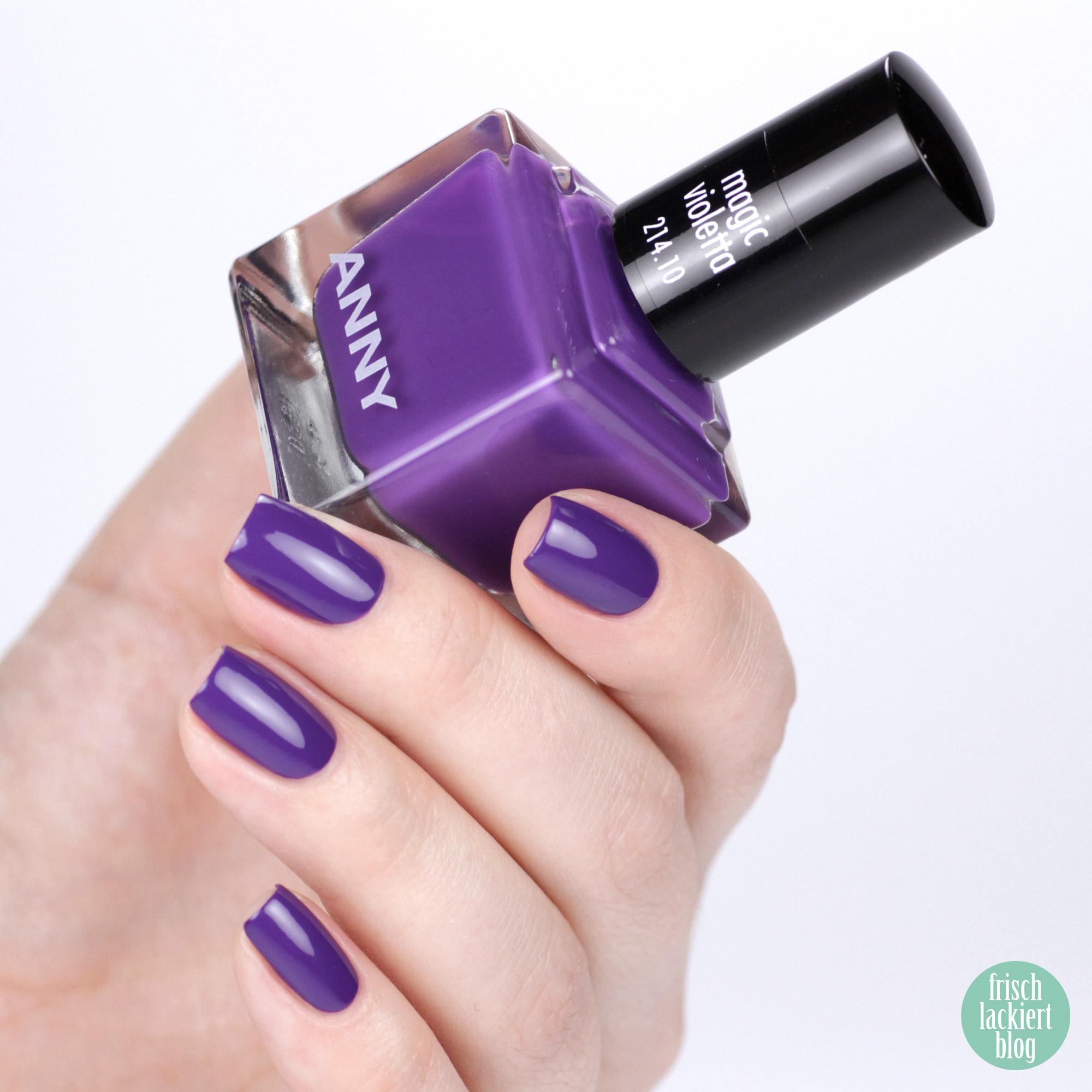 ANNY Ultra Violett Kollektion – Trendfarbe 2018 als Nagellack – Magic Violetta – swatch by frischlackiert