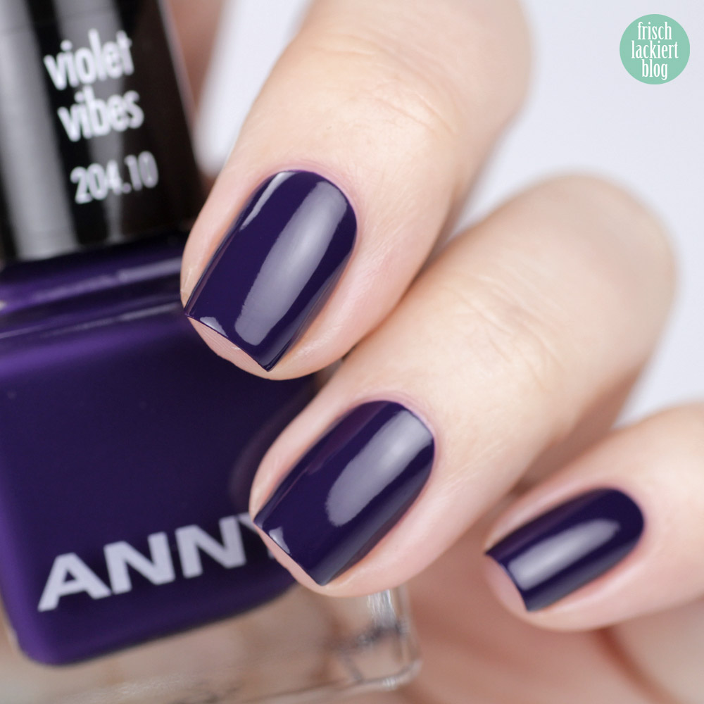ANNY Ultra Violett Kollektion – Trendfarbe 2018 als Nagellack – Violet Vibes – swatch by frischlackiert