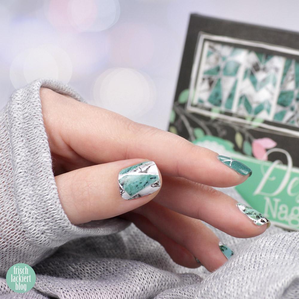 Sticker Gigant Nagelsticker – neue Kollektion 2018 – Marmor Stein und Farbe – Design Minzmarmor – Nailart mit Nailwraps – by frischlackiert