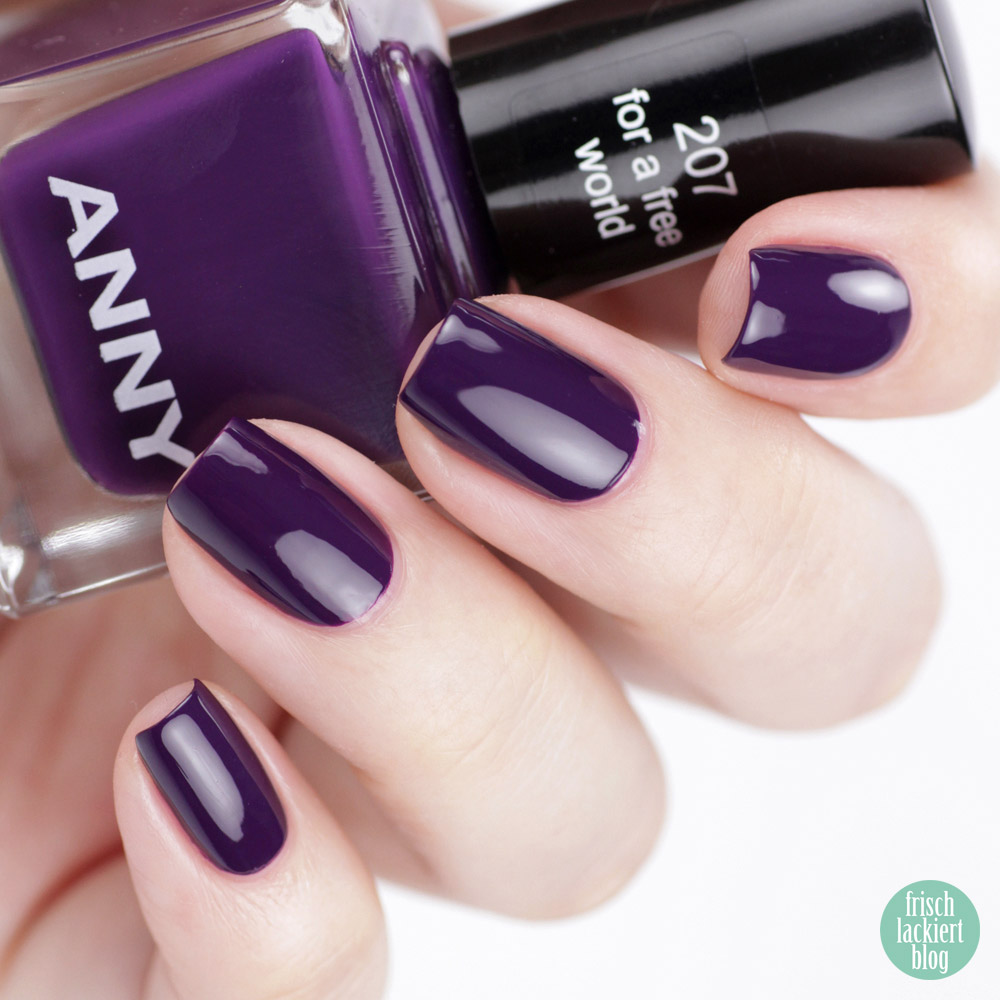 ANNY Ultra Violett Kollektion – Trendfarbe 2018 als Nagellack – For a free World – swatch by frischlackiert