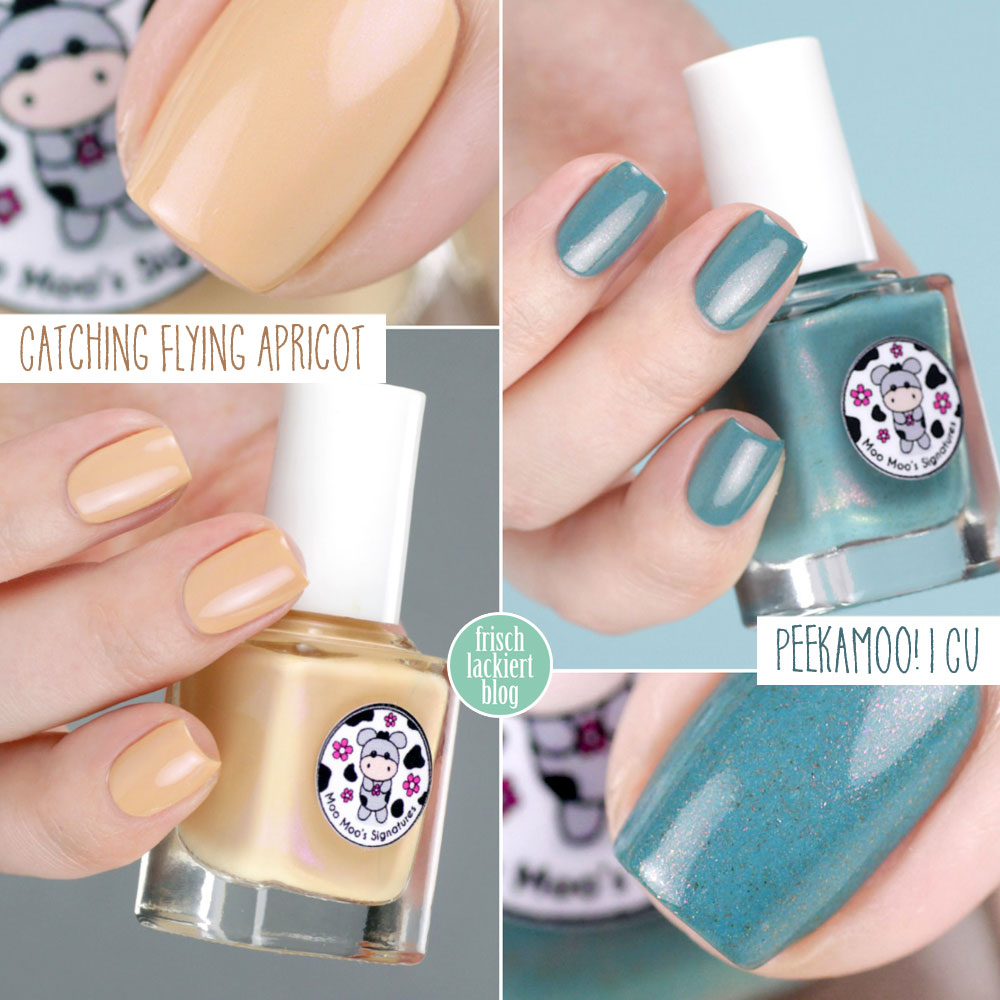 Moo Moo's Signatures – Peekamoo! I Cu & Catching Flying Apricot – Facebook Group Custom Nailpolish – swatch by frischlackiert