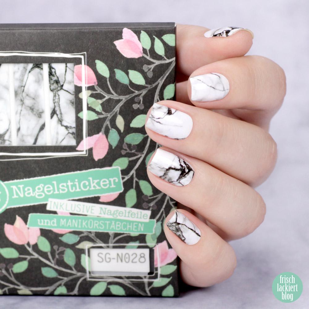 Sticker Gigant Nagelsticker – Marmorlina – Marmor Nailart zum Aufkleben – swatch by frischlackiert