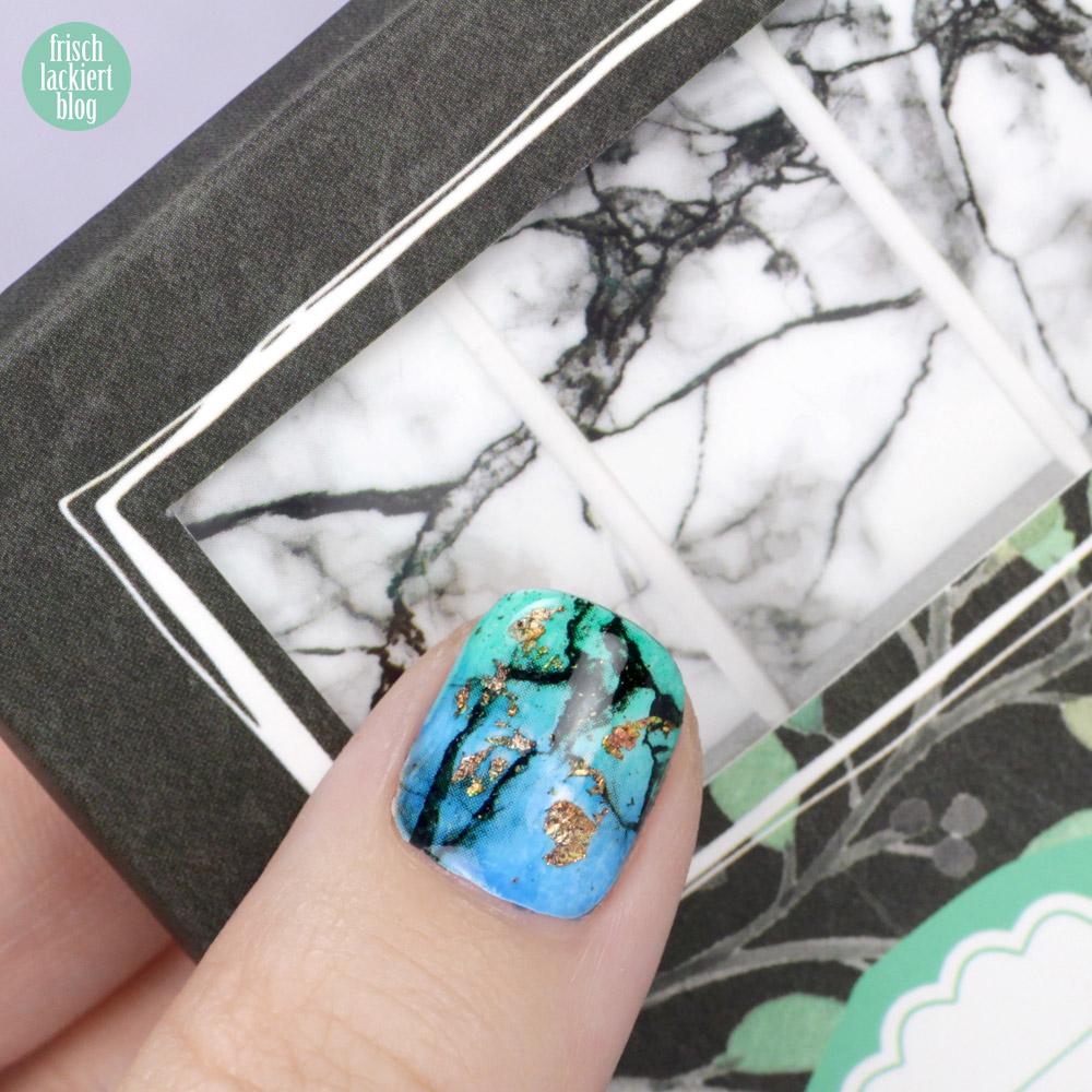 Sticker Gigant Nagelsticker – Marmorlina – Marmor Nailart zum Aufkleben – mit Gradient und Gold – swatch by frischlackiert