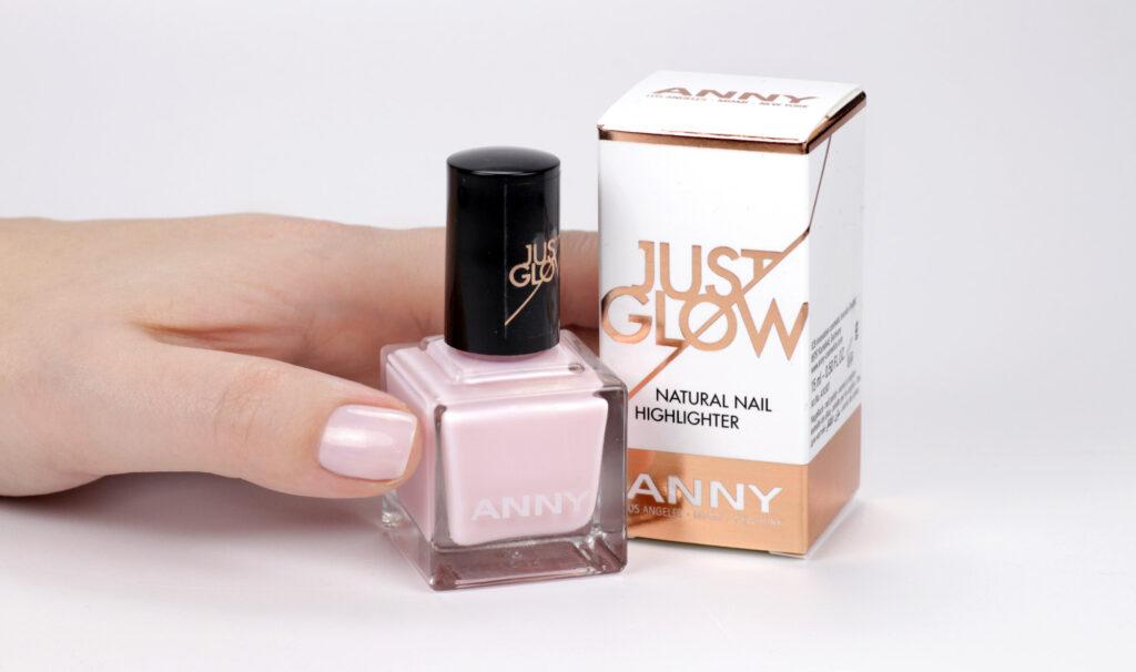 ANNY just glow – der highlighter für die Nägel – nude rosa Nagellack mit Schimmer – swatch by frischlackiert