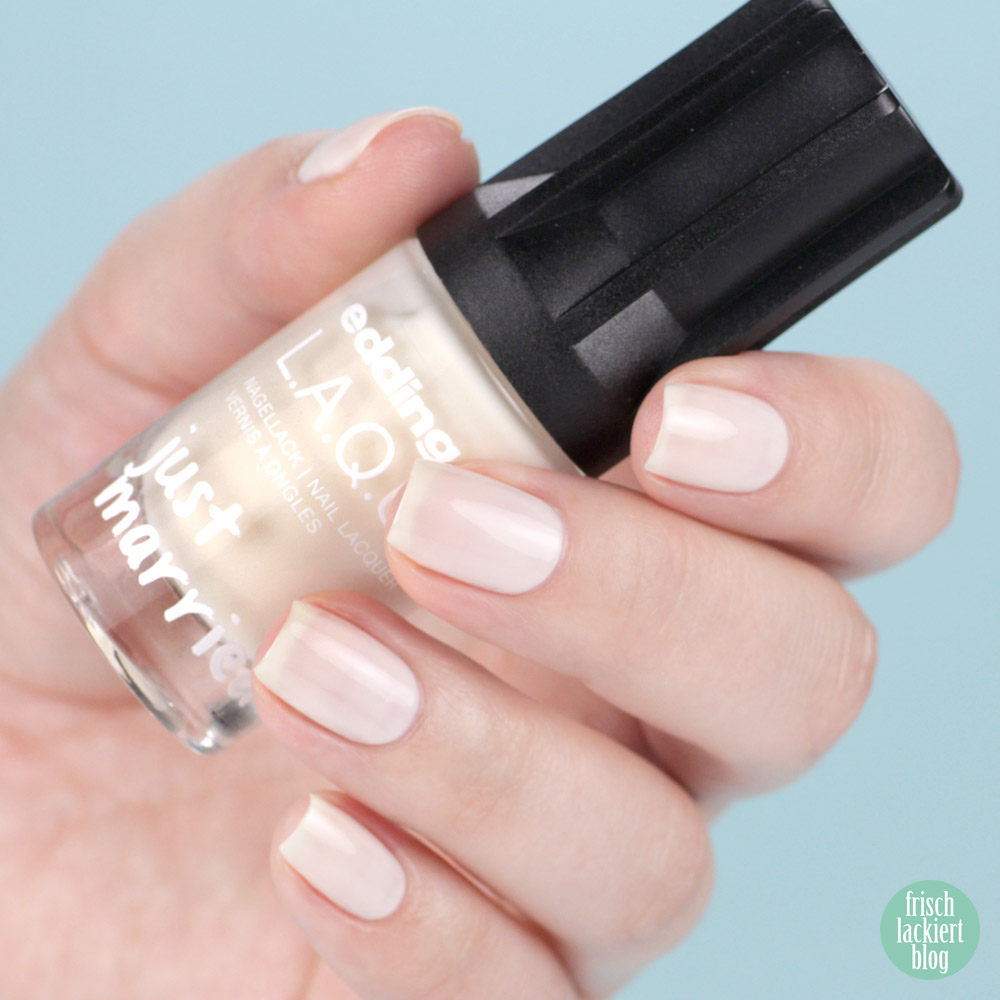 bride's best – edding LAQUE Limited Edition: Just MARRIED – wedding nailpolish collection 2018 – swatch by frischlackiert