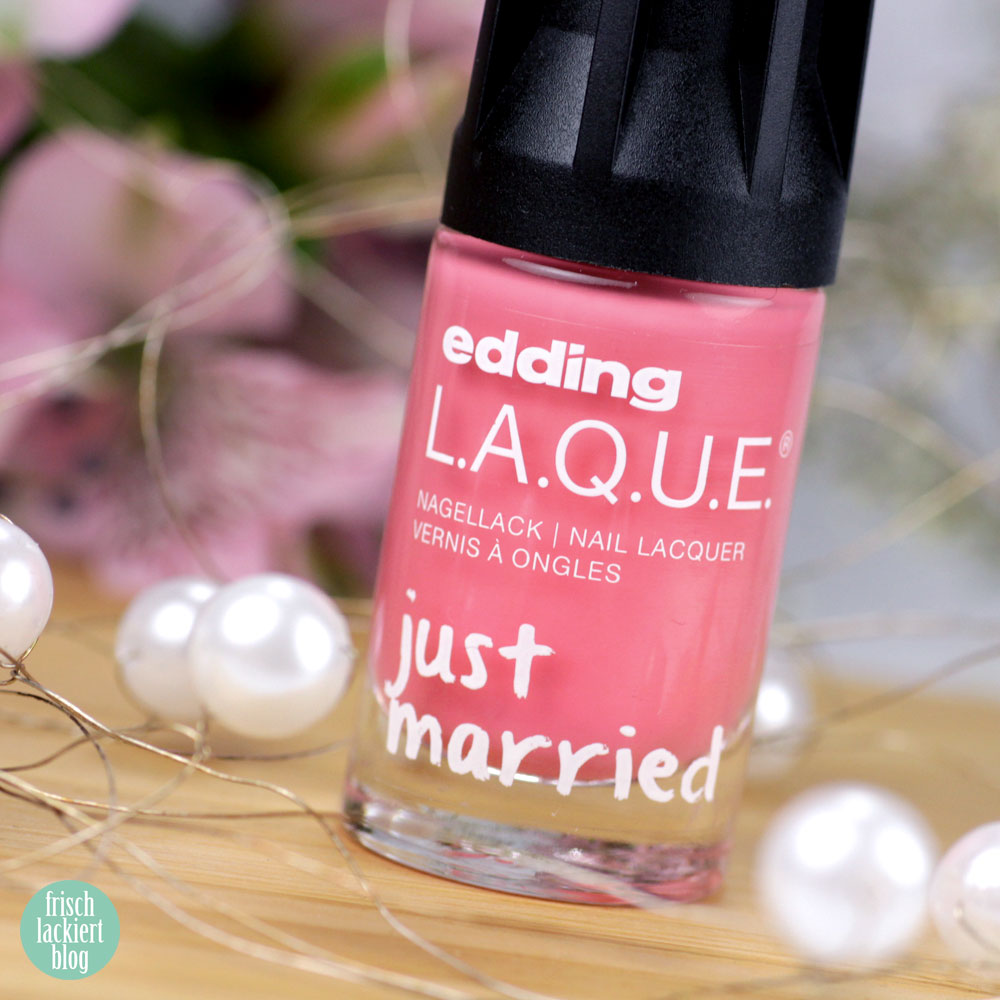 wild wedding – edding LAQUE Limited Edition: Just MARRIED – wedding nailpolish collection 2018 – swatch by frischlackiert