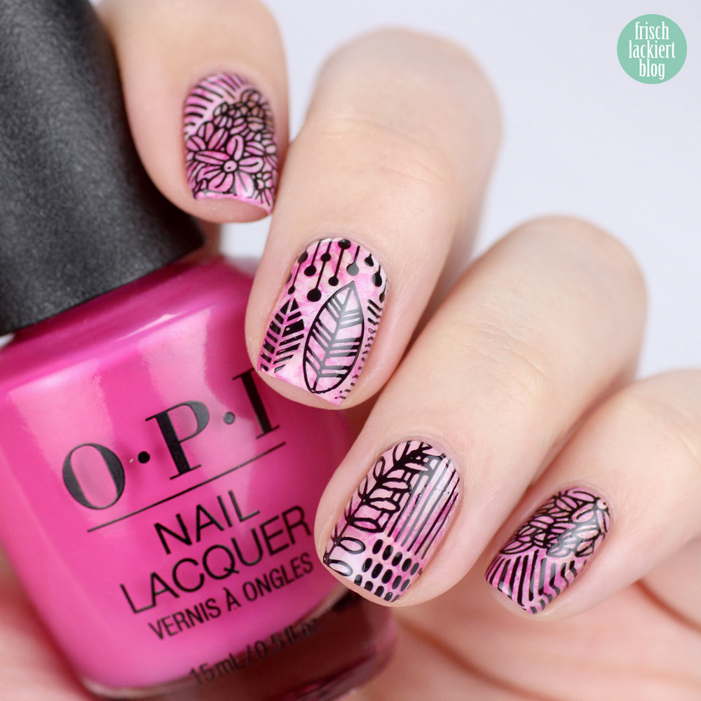 12 Monate 12 Techniken Nailart Blogparade – Smooshy Nails – MoYou Stamping Trend Hunter 11 – by frischlackiert