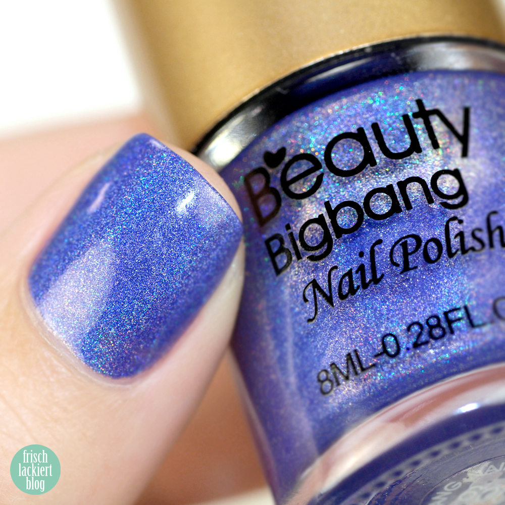 Beauty Big Bang Purple Holographic Nail Polish 009 – swatch and review by frischlackiert