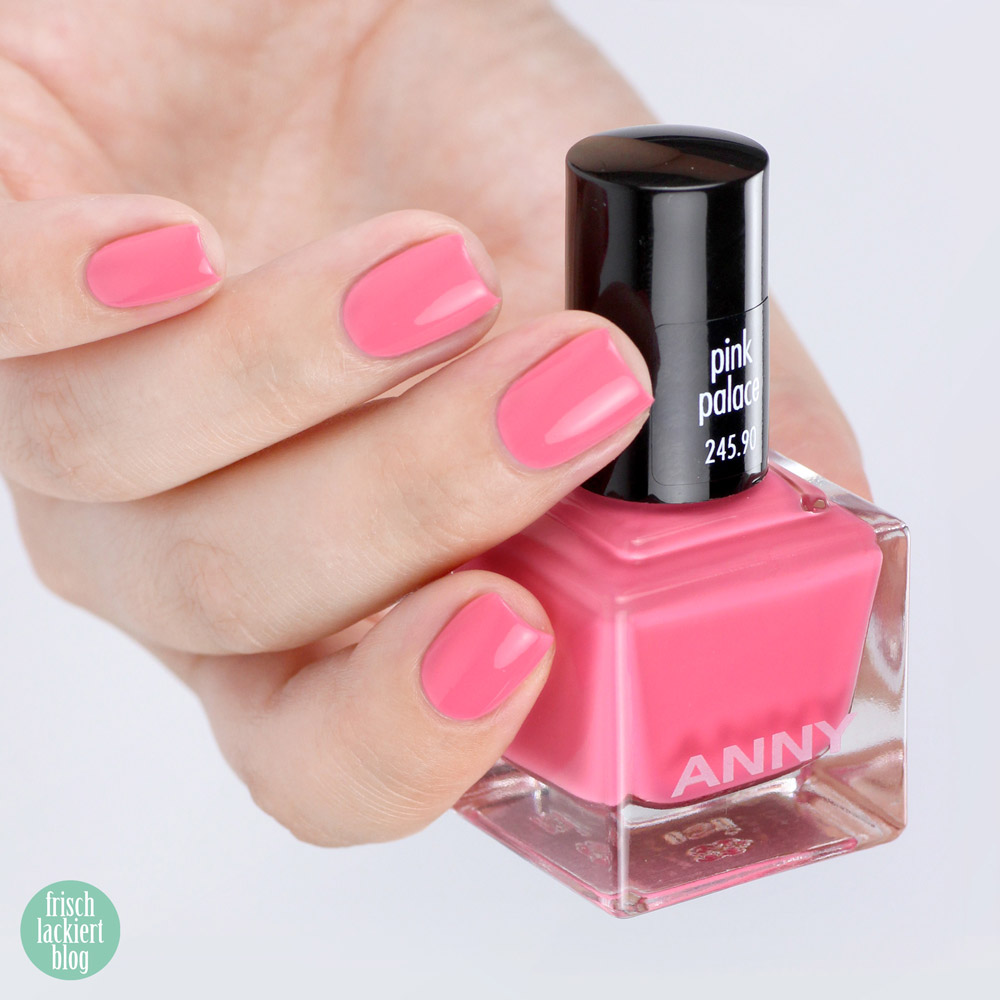ANNY beverly hills hideaway Kollektion – Nagellack Sommer 2018 – pink palace – swatch by frischlackiert